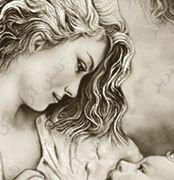نخ و نقشه مهر مادری -کد E - 9