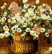 نخ و نقشه گل و گلدان -کدD119