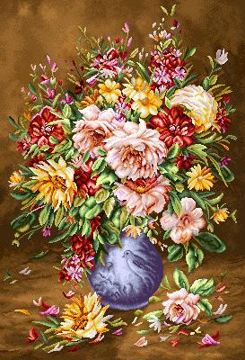 نخ و نقشه گل و گلدان- كد 379(1)