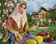 نوازنده دختر قاجار  -کد B103