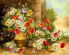 گل و گلدان  - كد D1010