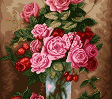 گل و گلدان کوچک - کد D120