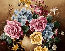 گل و گلدان کوچک  -کد D800