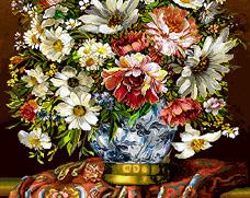گل و گلدان  -کد D - 1012