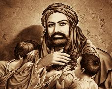 حضرت علی (ع) با یتیمان - کد b107