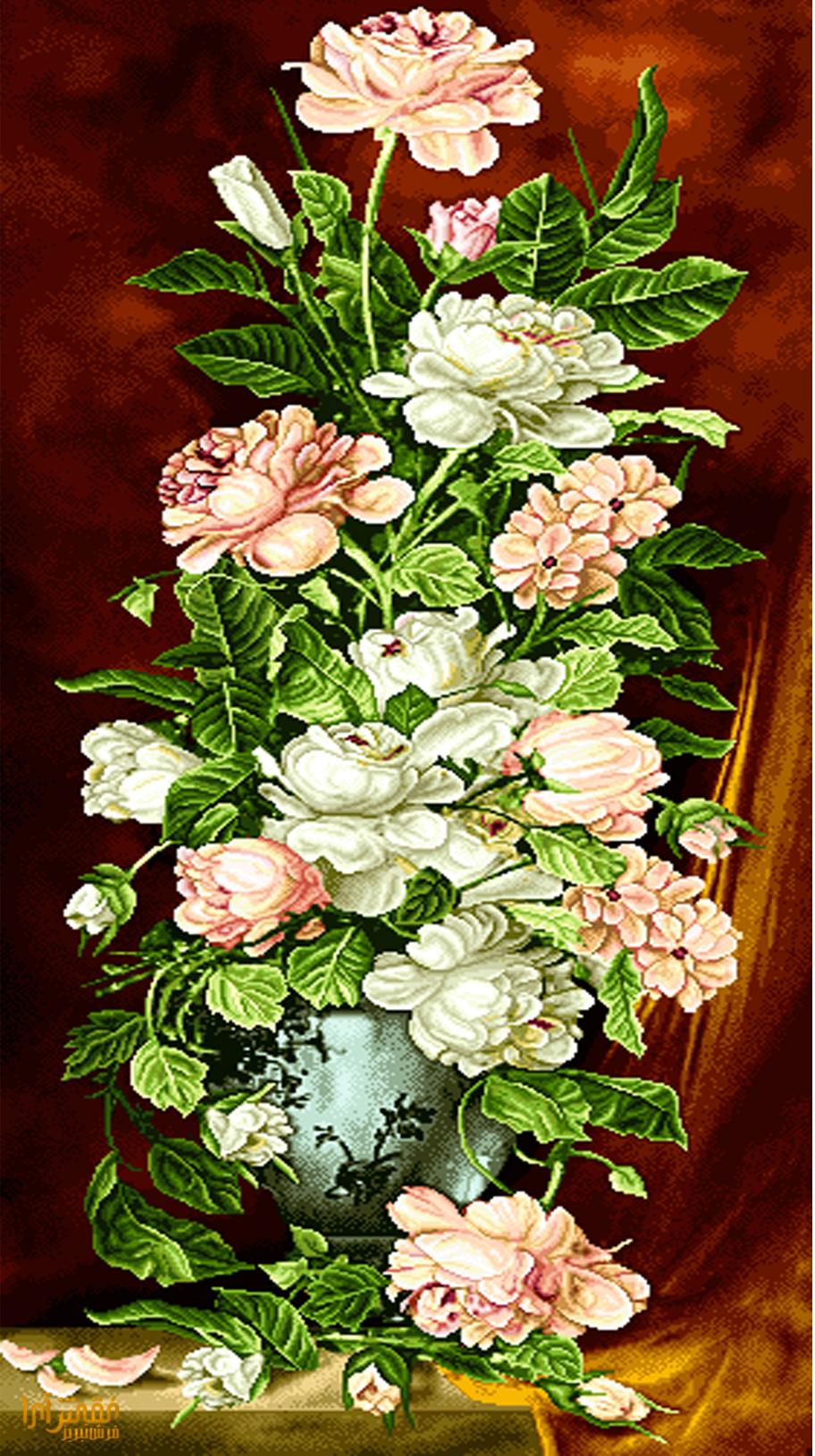 نام طرح : گل و گلدان -کدD188