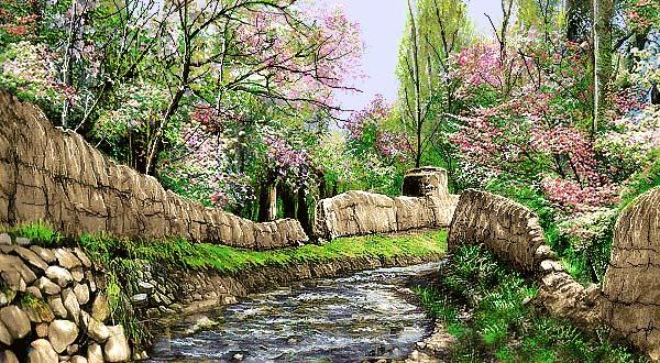 منظره کوچه باغ -کد F - 1020