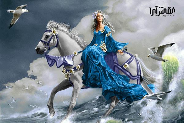 دختر اسب سوار - کد E - 6