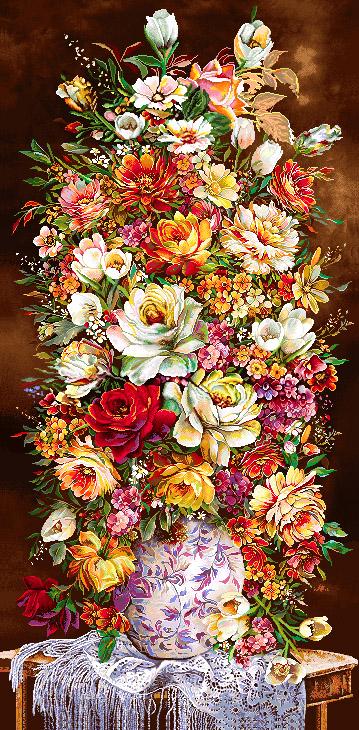 گل و گلدان - كد D123