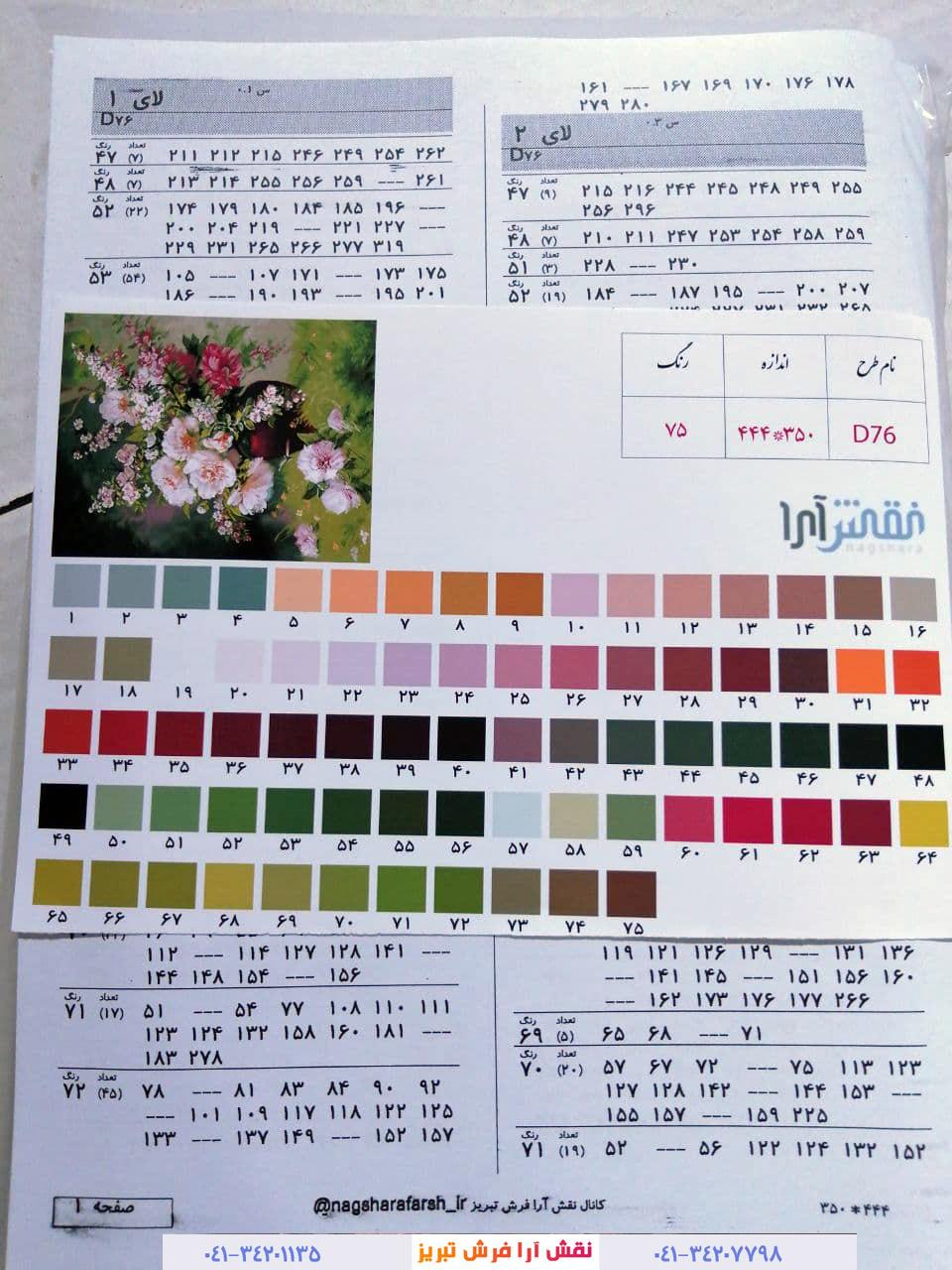 نقشه کامپیوتری تابلوفرش تبریز نقشه فرش نقشه عددی تابلو فرش نقشه گلدان