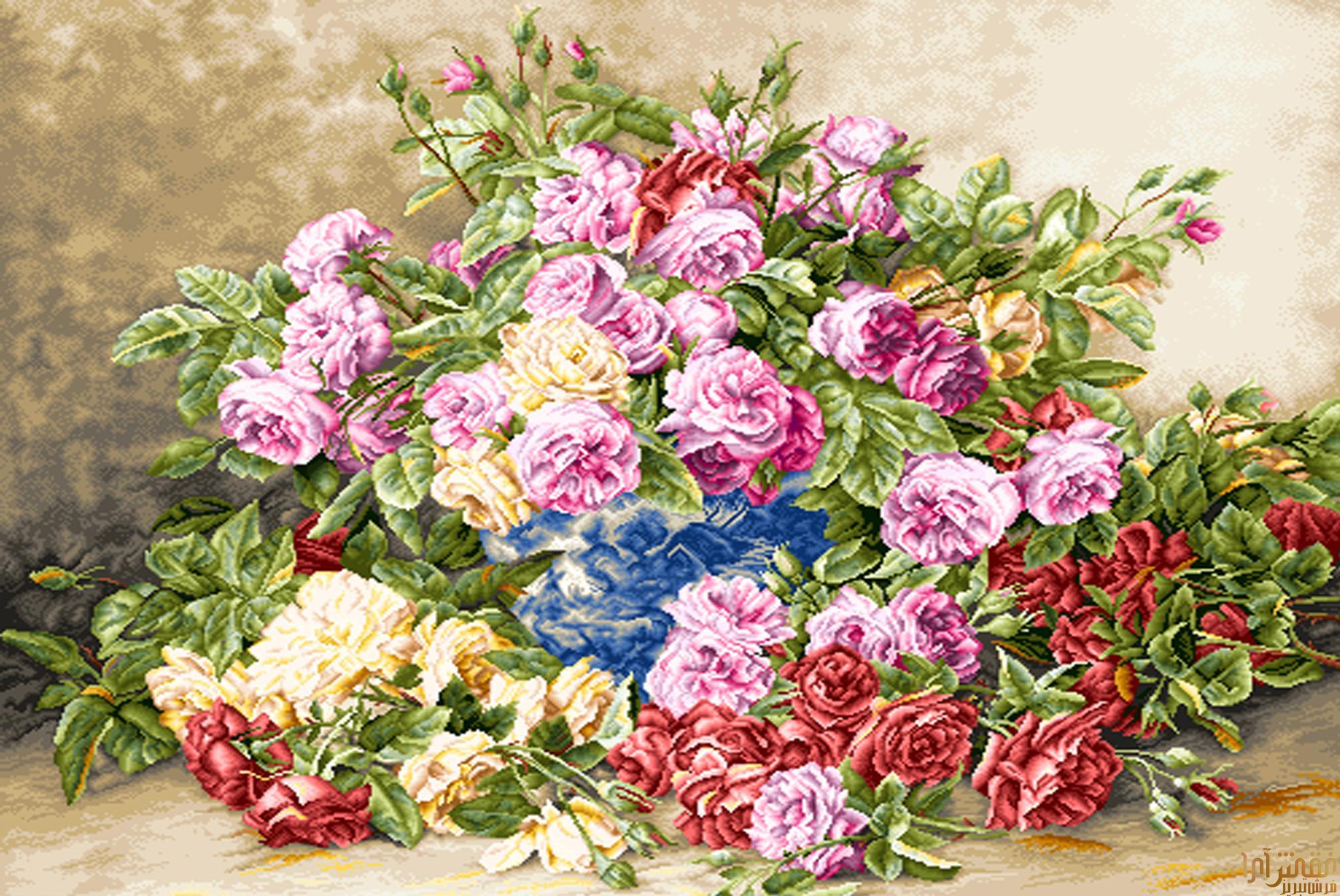 نام طرح : گل و گلدان - كد D309