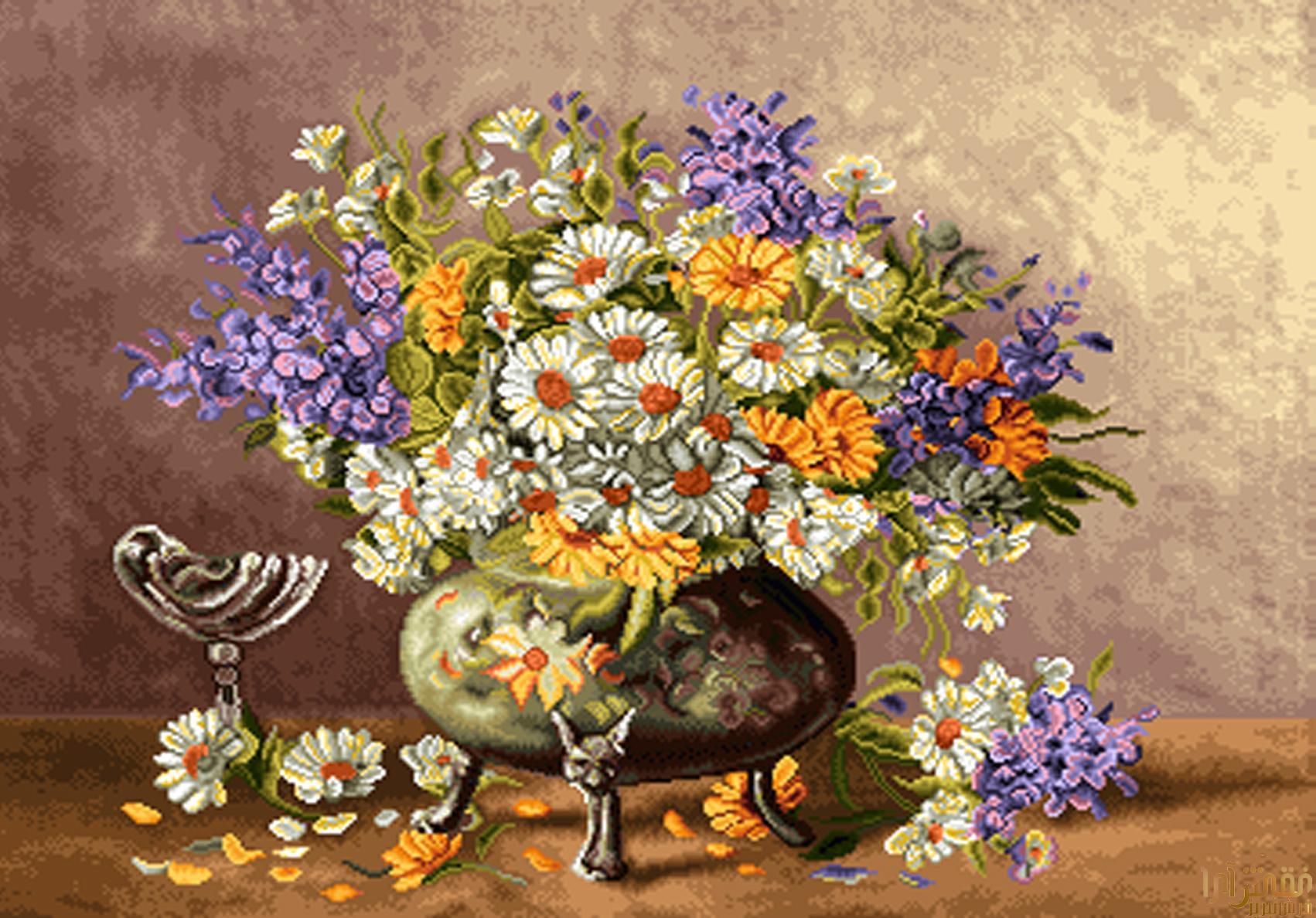 نام طرح : گل و گلدان - كد D311