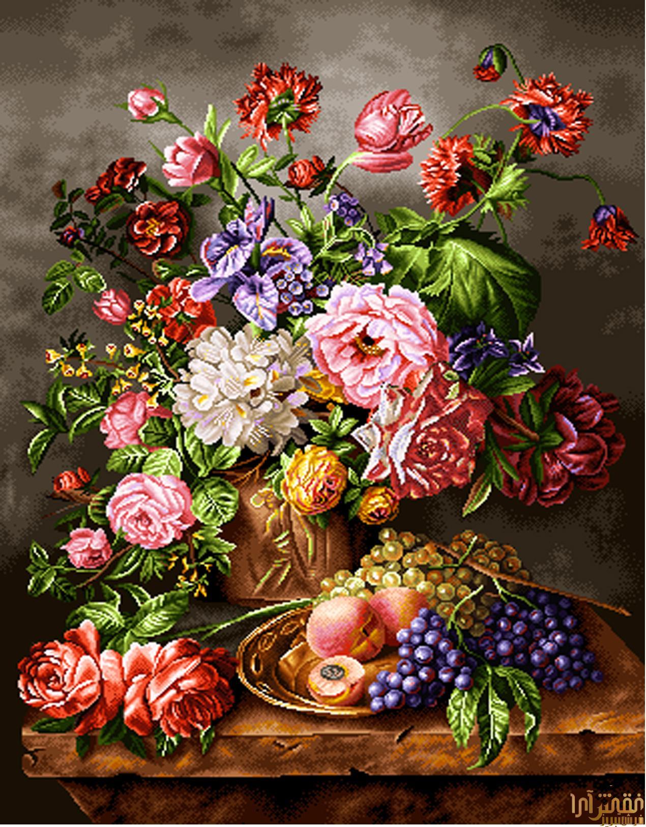 نام طرح : گل و گلدان - كد D313