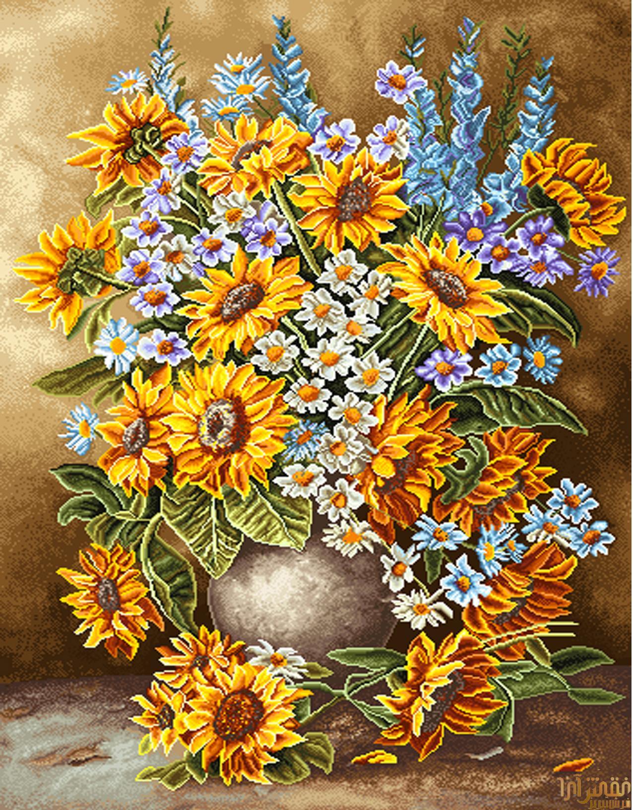 گل و گلدان - كد D315