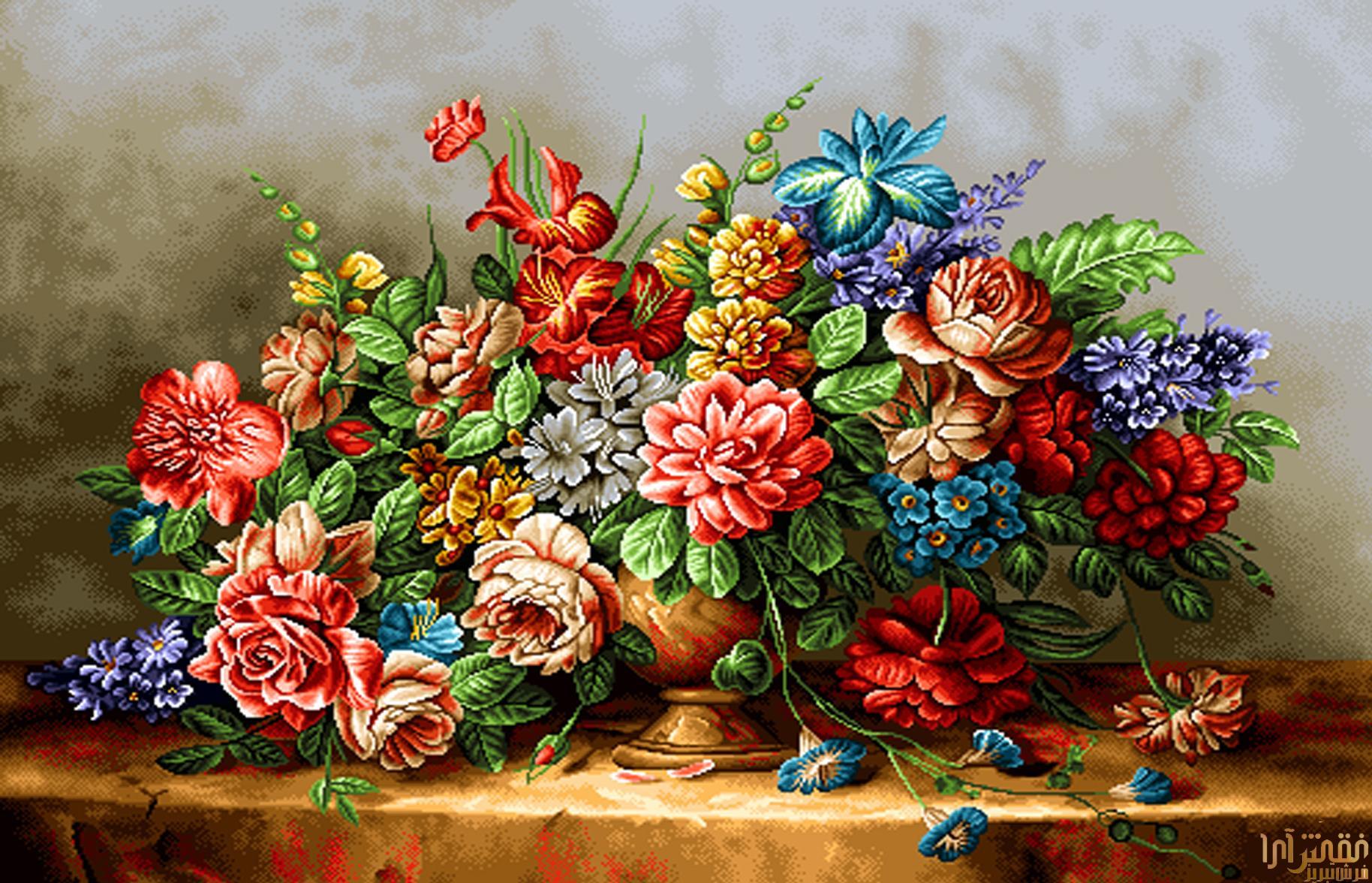 گل و گلدان - كد D316