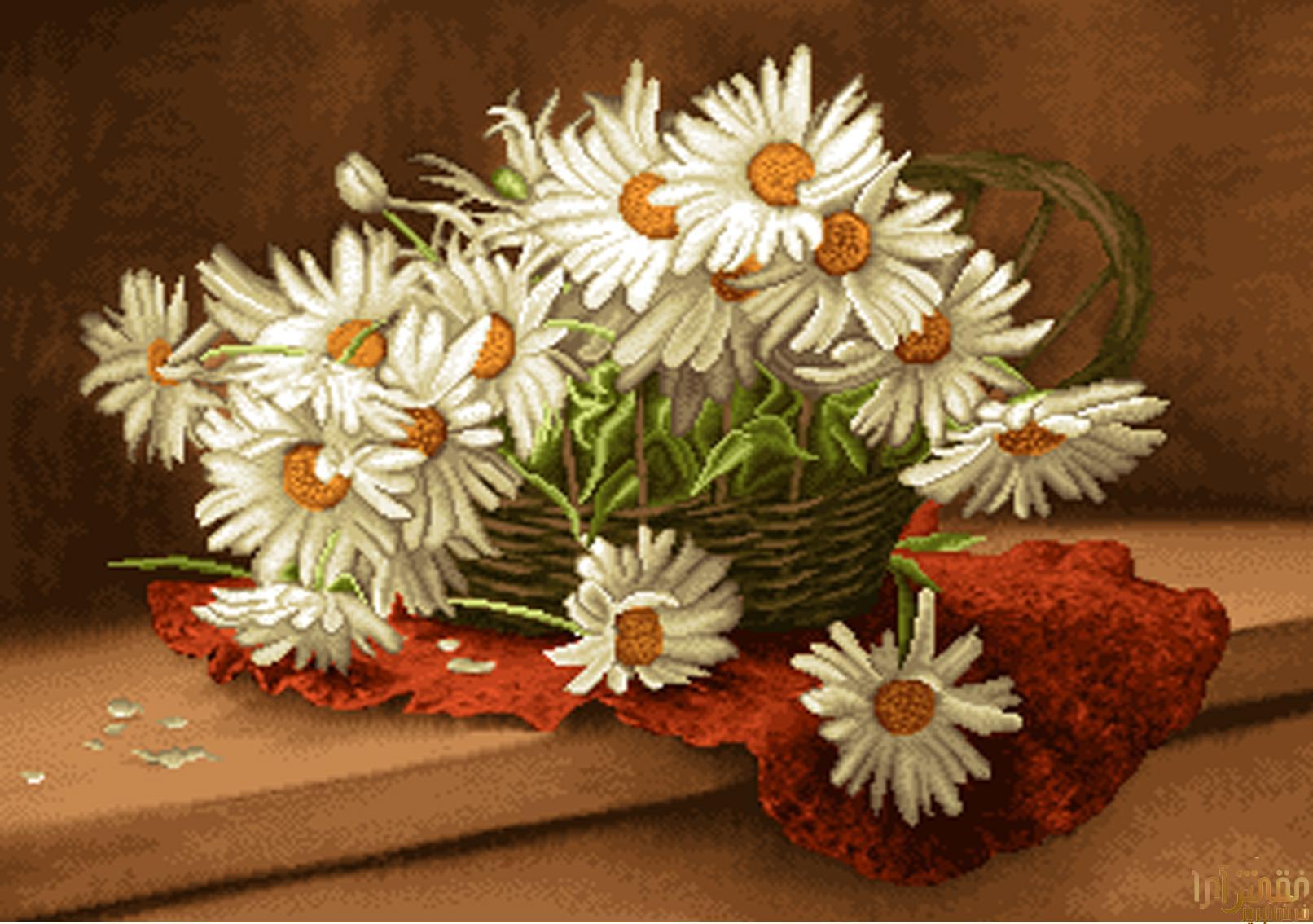 گل و گلدان - كد D318