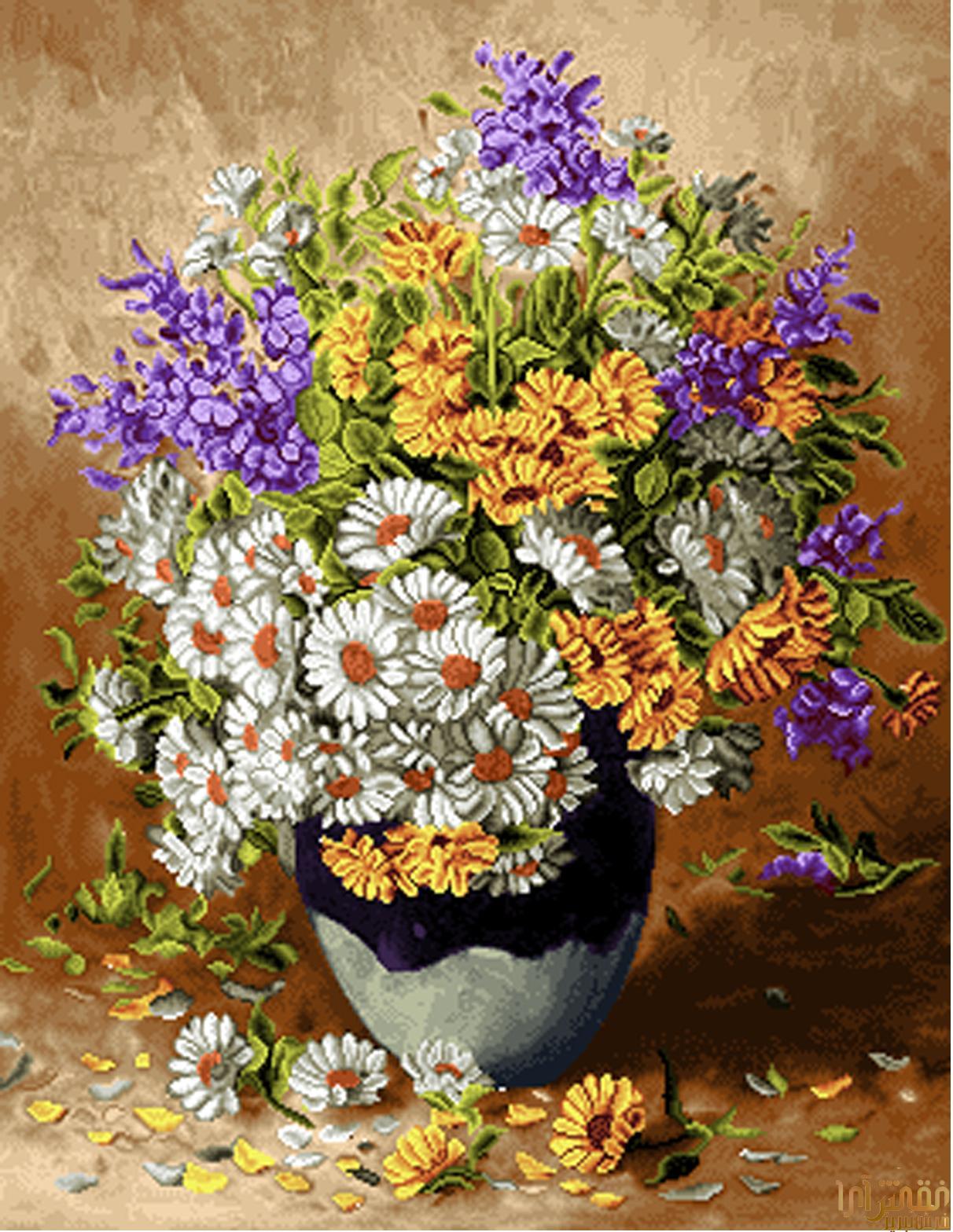 گل و گلدان - كد D322