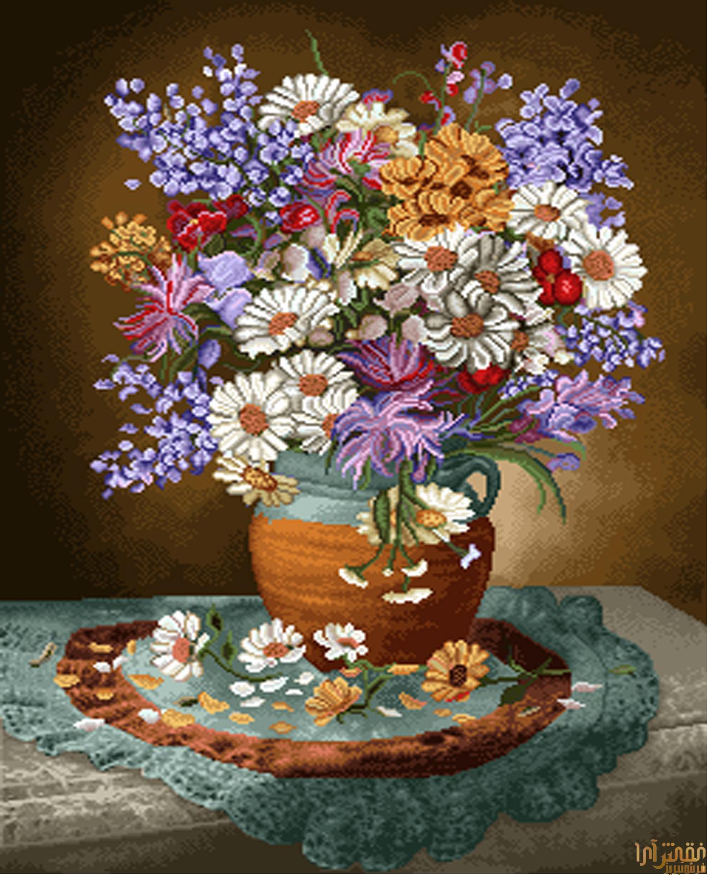 گل و گلدان - كد D323