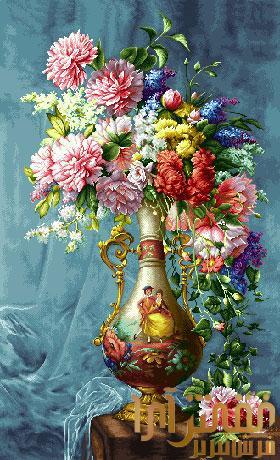 گل و گلدان - كد D141