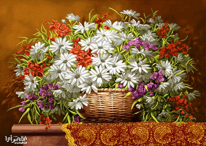 نام طرح : گل و گلدان - كد D452